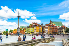 Warsaw, Poland – July 14, 2017: Plac Zamkowy - The castle square in Warsaw stock photos