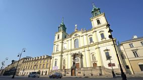 Holy Cross Church in Warsaw. stock footage