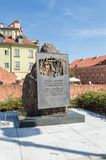 Katyn monument at Podwale Street in Warsaw stock photo
