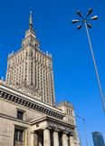 Warsaw / Poland - April 03 2019. Palace of Culture and Science in the city center stock photo