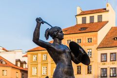 A typical view in the old town in Warsaw Poland royalty free stock images