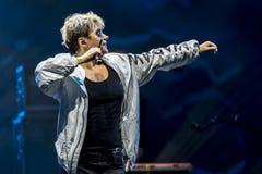 Maria Peszek during Meskie Granie 2017 concert in Warsaw royalty free stock images