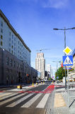 Warsaw, Poland - August 1 : Tourists on foot Street in Warsaw, P Stock Photos