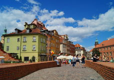 ;Warsaw, Poland. Beautiful houses on the square castle Royalty Free Stock Photos