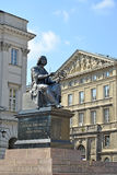 WARSAW, POLAND. Bronze monument to Nicolaus Copernicus. WARSAW, POLAND - AUGUST 23, 2014: Bronze monument to Nicolaus Copernicus Royalty Free Stock Images