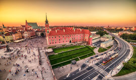 Warsaw, Poland: Castle Square and the Royal Castle, Zamek Krolewski w Warszawieest. Warsaw, Poland: Castle Square and the Royal Castle, Zamek Krolewski w Royalty Free Stock Photo
