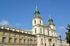 WARSAW, POLAND. Cathedral church of the Sacred Cross Stock Images