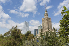 Warsaw, Poland. City center with Palace of Culture and Science ( Royalty Free Stock Photo