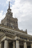Warsaw, Poland. City center with Palace of Culture and Science ( Royalty Free Stock Photography