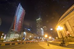 Warsaw, Poland-December 2016: Skyscrapers in the center of the P Stock Photo