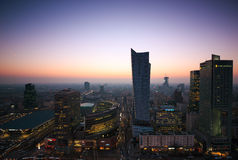 Warsaw, Poland February 13, 2015. View of the center of Warsaw, Stock Image