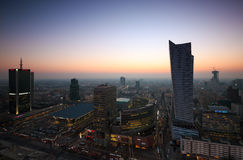 Warsaw, Poland February 13, 2015. View of the center of Warsaw, Royalty Free Stock Images