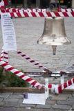 Memorial bell for president Lech Kaczynski, his wife Maria,  Ryszard Kaczorowski-President in Exile and 93 people died in Smolensk. WARSAW, POLAND - JANUARY 10 Stock Photo