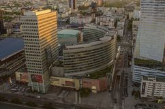 WARSAW, POLAND - JMAY 22, 2018. Aerial drone view from above of Stock Photography