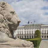WARSAW, POLAND - JULY 09, 2015: Lion and Prince Jozef Poniatowski Royalty Free Stock Images