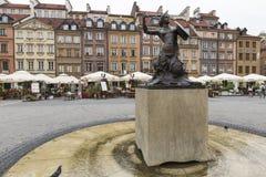 WARSAW, POLAND - JULY 08, 2015: Statue of Syrenka Stock Images