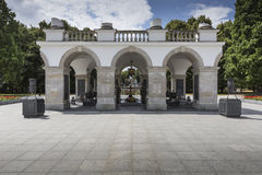WARSAW, POLAND - JULY, 08: The Tomb of the Unknown Soldier Royalty Free Stock Photography