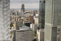Warsaw, Poland - JULY 09, 2015 View from the observation deck Stock Image