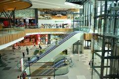 Interior of modern shopping center Galeria Mlociny. Warsaw, Poland. 18 June 2019. Interior of modern shopping center Galeria Mlociny stock photo