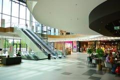 Interior of modern shopping center Galeria Mlociny. Warsaw, Poland. 18 June 2019. Interior of modern shopping center Galeria Mlociny royalty free stock images