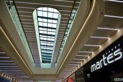 Interior of modern shopping center Galeria Mlociny. royalty free stock photos