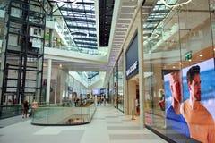 Interior of modern shopping center Galeria Mlociny. stock photography