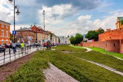 WARSAW, POLAND - JUNE 2012: view of old town Royalty Free Stock Photography