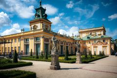Warsaw Wilanow Royal Palace landmark Stock Photo
