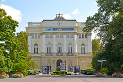 WARSAW, POLAND. Main case of the Warsaw university Stock Photography