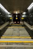 Warsaw, Poland, March 7, 2019: Underground passage in Warsaw metro royalty free stock image