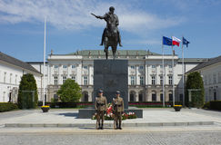 WARSAW, POLAND - MAY 9: Changing of the guard at the Polish Pres Royalty Free Stock Photography