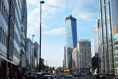 Warsaw Poland,6 May 2016.Q22 building Royalty Free Stock Photos