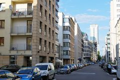Warsaw Poland, 6 May , 2016. Sienna Street. Sienna Street in Warsaw - one of the streets of Warsaw, located in the neighborhoods and Wola. It is located between Royalty Free Stock Photo