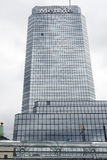Warsaw, Poland . metlife Skyscraper in the center of city Royalty Free Stock Photo