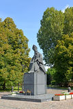 WARSAW, POLAND. A monument to the cardinal Stefan Vyshinsky in summer day Stock Image