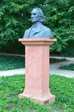 WARSAW, POLAND. A monument to the composer Franz Liszt in the Lazenki park Royalty Free Stock Photos