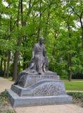 WARSAW, POLAND. A monument to the famous write Henryk Sienkiewicz in the Lazenki park Royalty Free Stock Photo