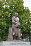 WARSAW, POLAND. A monument to the Jozef Pilsudsky on Uyazdovskaya Avenue Stock Image