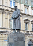 WARSAW, POLAND. A monument to the marshal Jozef Pilsudsky at Pilsudsky Square Stock Photos