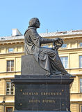 WARSAW, POLAND. Monument to Nicolaus Copernicus, side view Stock Images