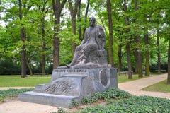 WARSAW, POLAND. A monument to the Polish write Henryk Sienkiewicz in the Lazenki park Royalty Free Stock Images