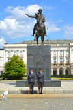 WARSAW, POLAND. Monument to the prince Jozef Ponyatovsky Royalty Free Stock Image