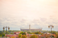 WARSAW, POLAND.  National Stadium. The  was constructed in 2011 to meet euro 2012 football championship Royalty Free Stock Photography