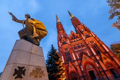 St. Florian`s Cathedral in Warsaw royalty free stock images