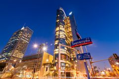 Warsaw Business District stock photo