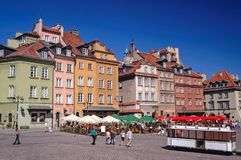 Old Town of Warsaw. Warsaw, Poland - October 1, 2005: Castle Square on the Old Town of Warsaw, Poland Royalty Free Stock Images