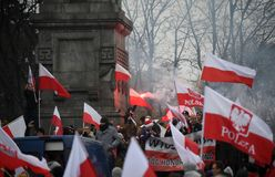 Celebration of the 100th anniversary of regaining independence by Poland royalty free stock photography