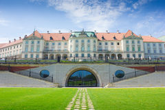 Warsaw, Poland. Old Town - famous Royal Castle. UNESCO World Her Royalty Free Stock Photography
