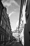 Warsaw Poland old town street Royalty Free Stock Images