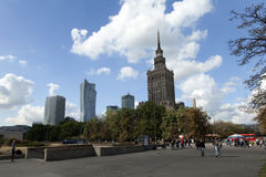 Warsaw, Poland. Palace of Culture and Science, downtown Royalty Free Stock Images